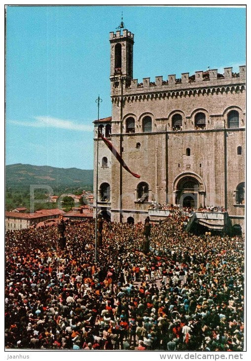15 Maggio , Le Birate dei ceri - 15th May Birate of Church - Gubbio - Perugia - Umbria - 53719 - Italia - Italy - unused - JH Postcards