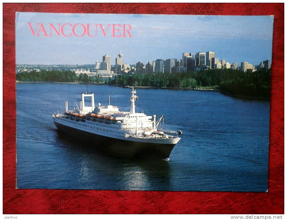 Cruise ship - Vancouver - 1983 - Canada - unused - JH Postcards