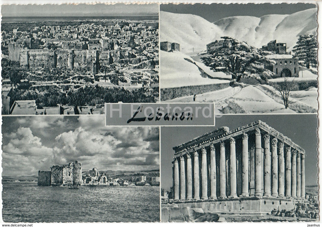Lebanon views - multiview - old postcard - Lebanon - used - JH Postcards