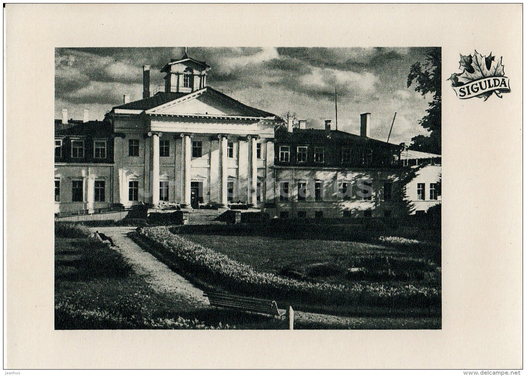 Krimulda sanatorium - Sigulda - old postcard - Latvia USSR - unused - JH Postcards