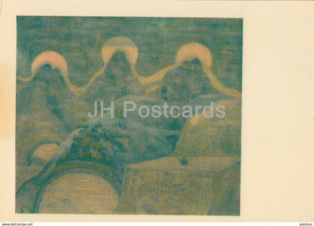 painting by M. Ciurlionis - Sonata of the Grass Snake . Finale - Lithuanian art - 1978 - Lithuania USSR - unused - JH Postcards