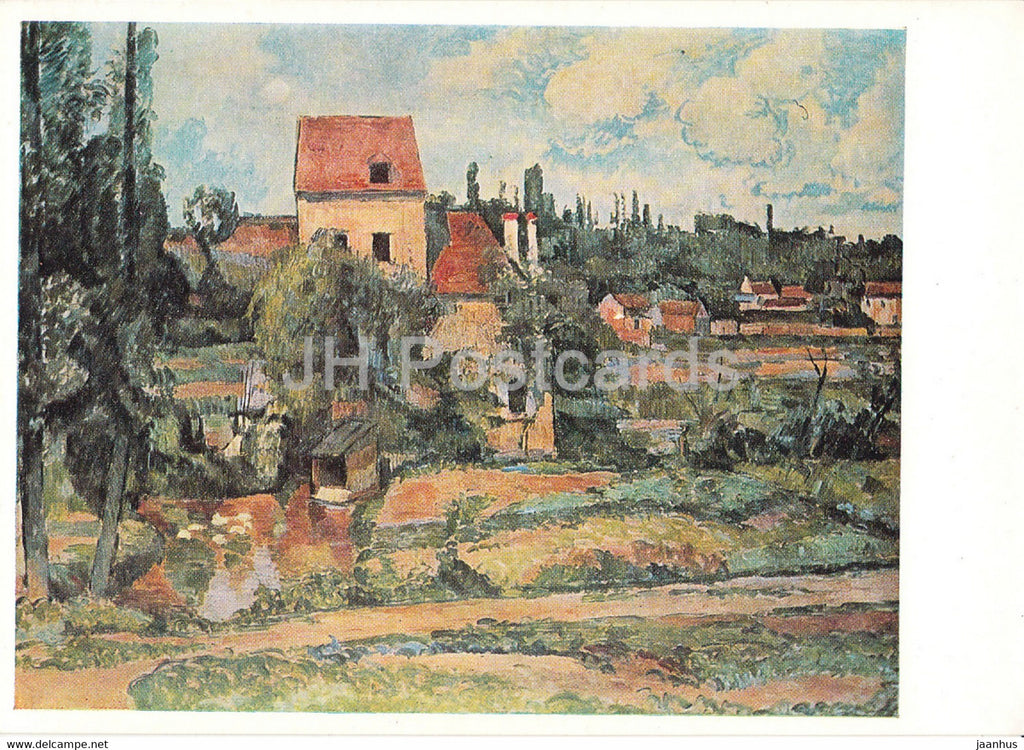 painting by Paul Cezanne - Die Muhle von Pontoise - French art - Germany DDR - unused - JH Postcards