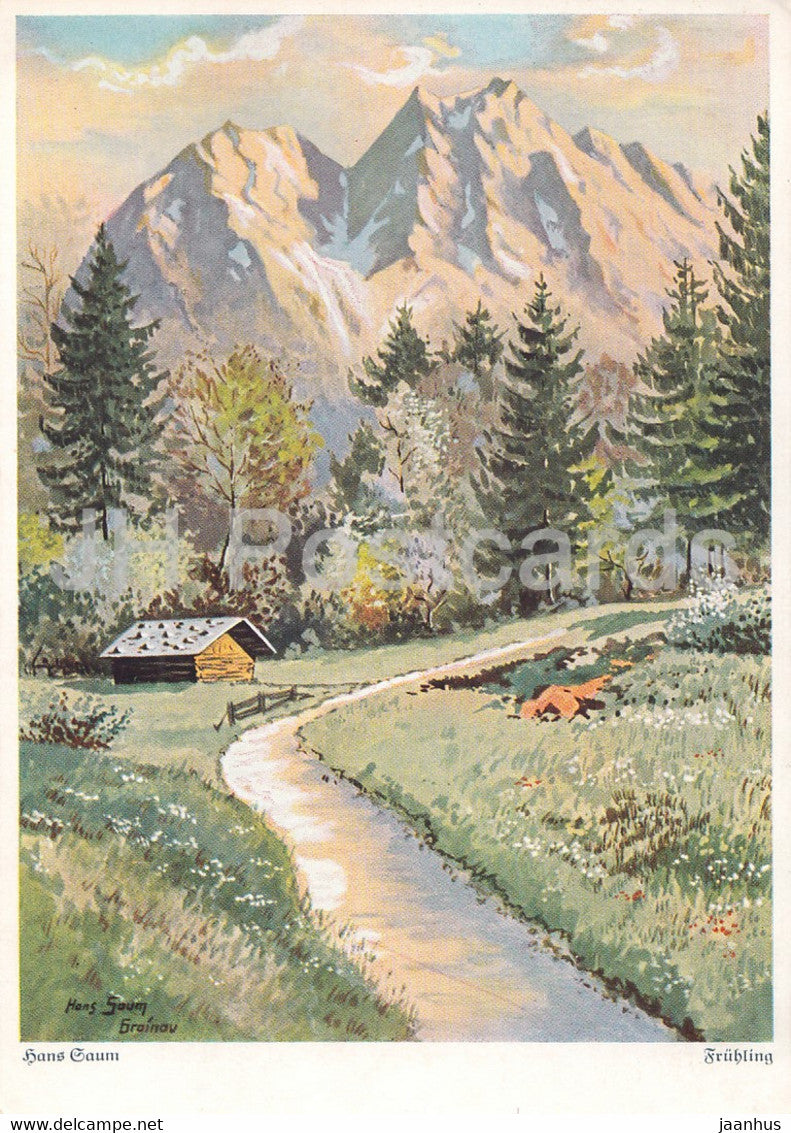 painting by Hans Maurus - Blick ins Kafertal - German art - 5537 - Germany - used - JH Postcards