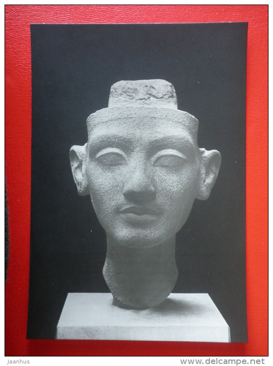Queen`s Portrait , 1360 BC - Sculptures of Ancient Egypt - old postcard - Germany DDR - unused - JH Postcards
