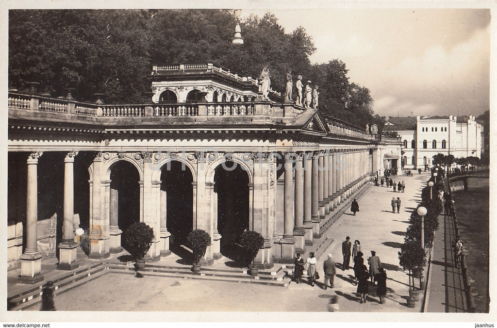 Karlovy Vary - Karlsbad - Mlynska kolonada - Mill Colonnade - old postcard - Czech Republic - unused - JH Postcards