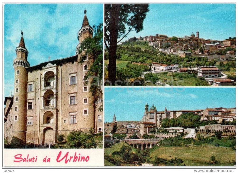 Saluti da Urbino - Urbino - Marche - 23 - Italia - Italy - sent from Italy Urbino to Germany - JH Postcards