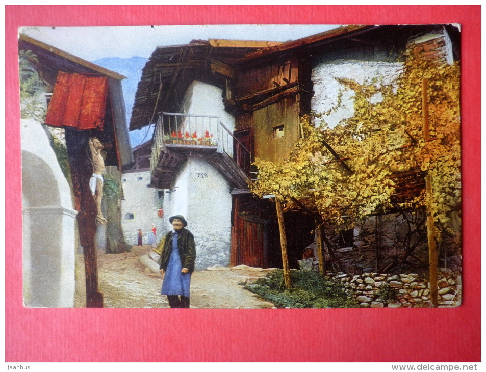 in Süd-Tirol - Trentino - Alto Adige - old man - Photochromie - Serie 212 , 3582 - old postcard - Italy - used - JH Postcards