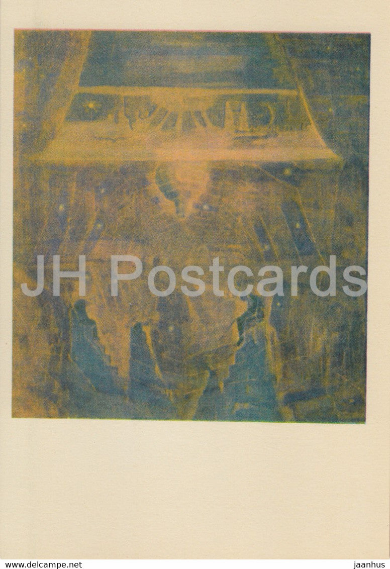 painting by M. Ciurlionis - Sonata of the Sun . Finale - Lithuanian art - 1978 - Lithuania USSR - unused - JH Postcards