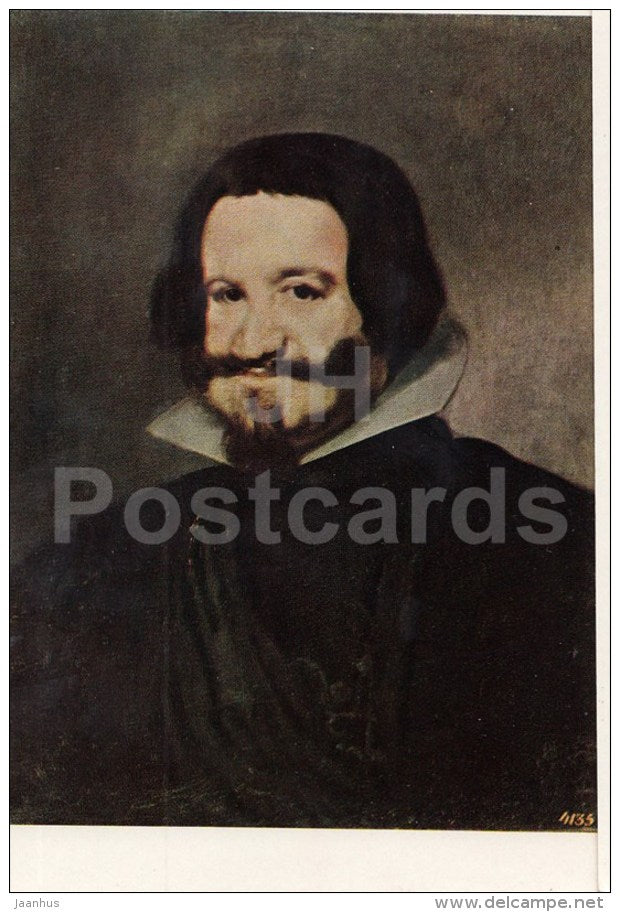 painting by Diego Velazquez - Portrait of Olivares - Spanish Art - 1963 - Russia USSR - unused - JH Postcards