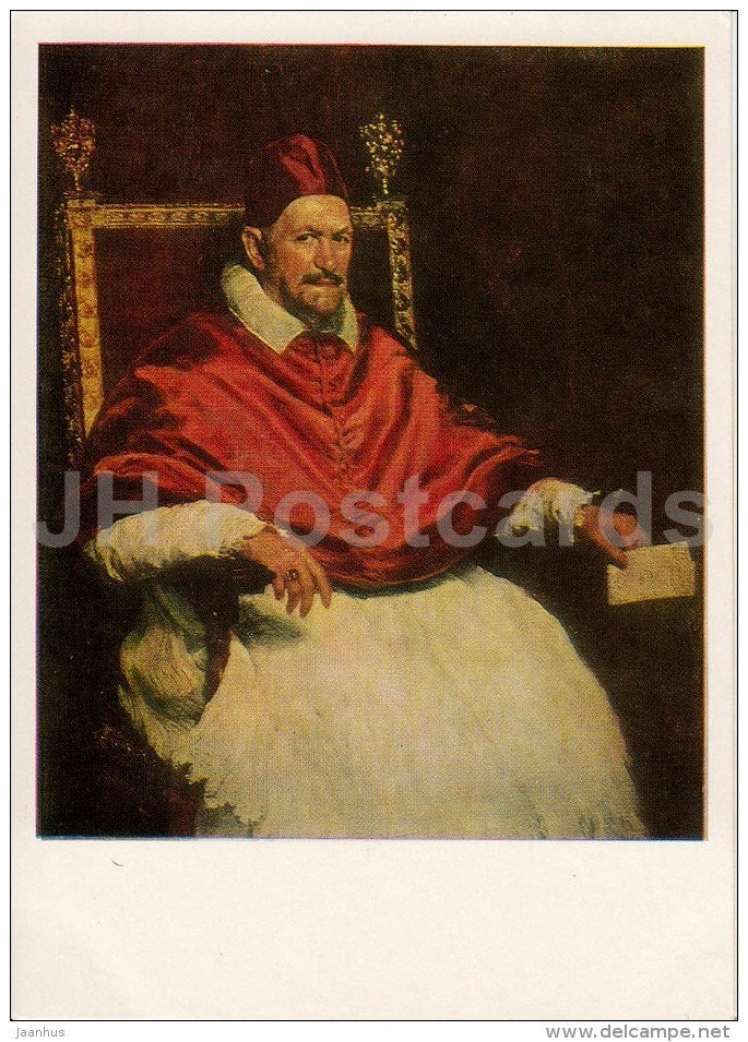 painting by Diego Velazquez - Portrait of Pope Innocent X -Spanish art - 1976 - Russia USSR - unused - JH Postcards