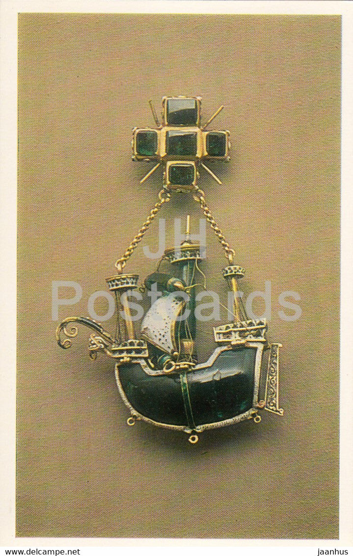 Jewels - Pendant - Spain 16th Century - The Hermitage - Leningrad - Russia - USSR - 1982 - used - JH Postcards