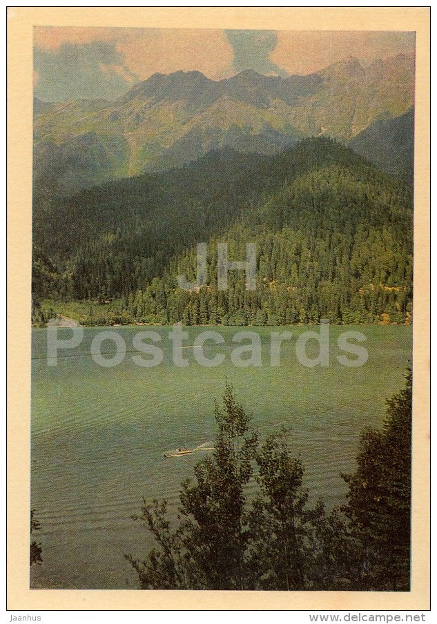 Lake Ritsa - Caucasus - 1968 - Georgia USSR - unused - JH Postcards