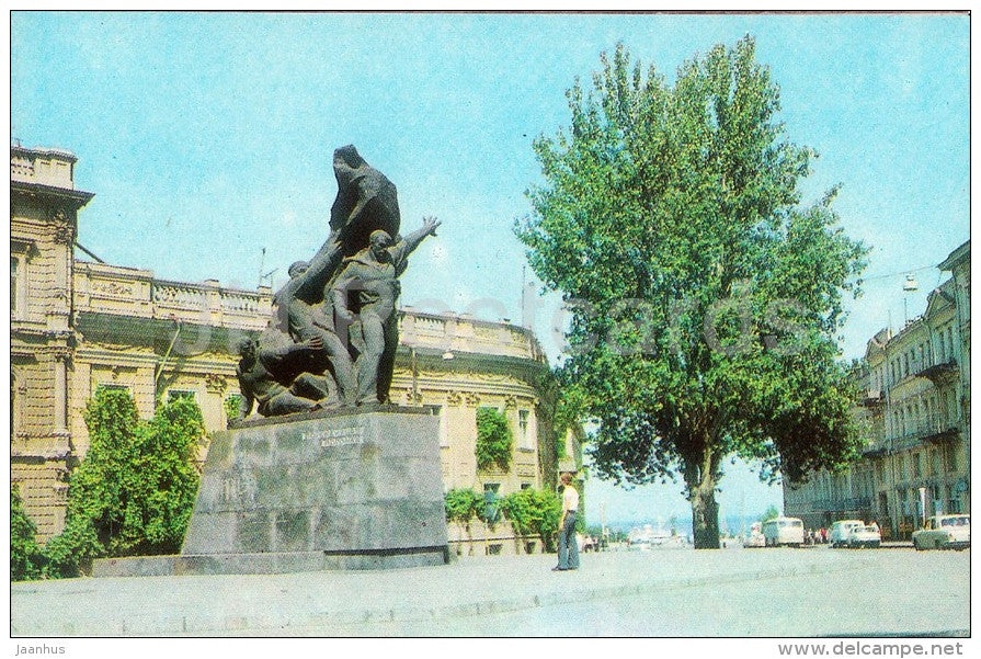 monument to the armed uprising on the battleship Potemkin - Odessa - 1980 - Ukraine USSR - unused - JH Postcards