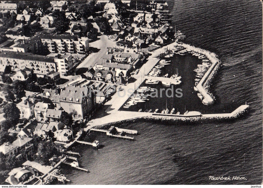 Taarbaek Havn - port - aerial view - 11206 - 1966 - Denmark - used - JH Postcards