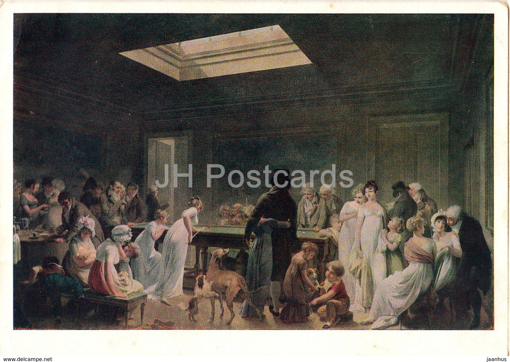 painting by Louis-Leopold Boilly - Billiards - French art - 1962 - Russia USSR - unused - JH Postcards