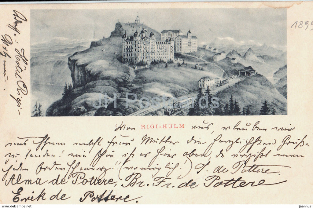 Rigi Kulm - old postcard - 1899 - Switzerland - used - JH Postcards
