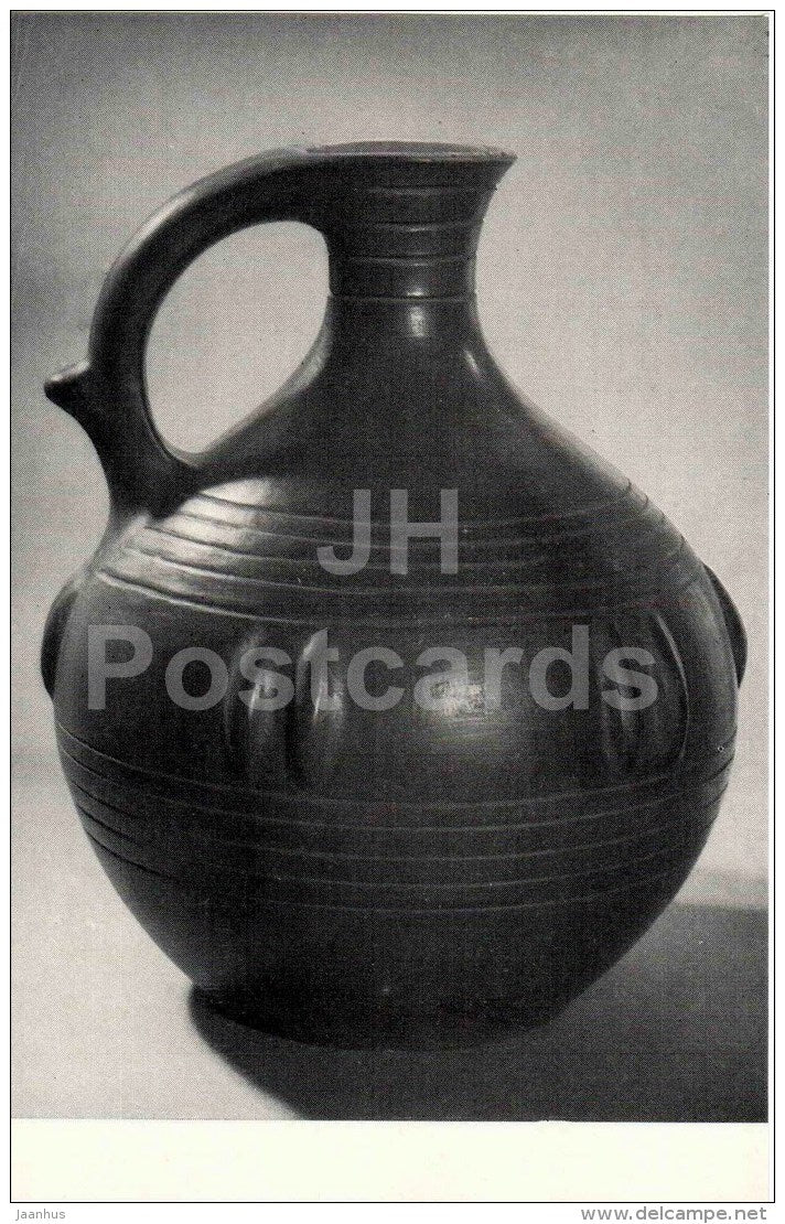 Wine Vessel by M. Chikhladze - earthenware - Stamping and Ceramics of Georgia - 1968 - Georgia USSR - unused - JH Postcards