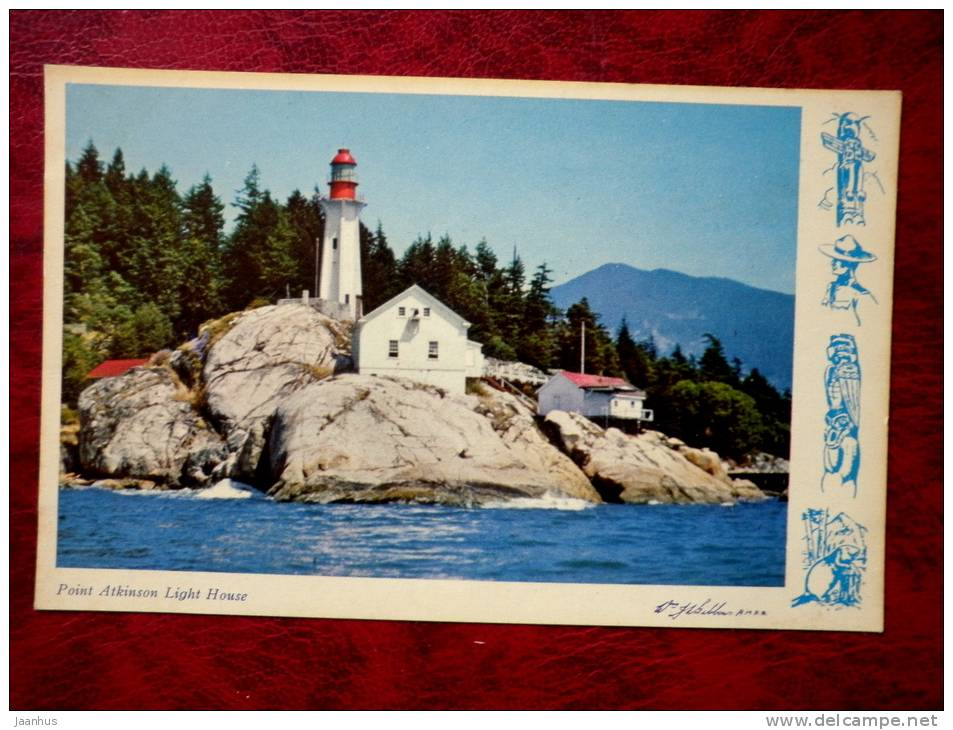 Point Atkinson Lighthouse- Vancouver - British Columbia -1959 - Canada - used - JH Postcards