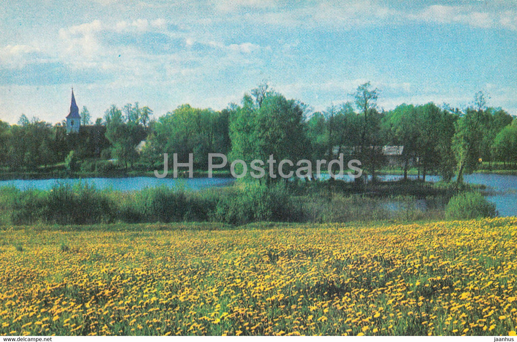 The Gauja National Park - Araisu Lake - 1976 - Latvia USSR - unused - JH Postcards