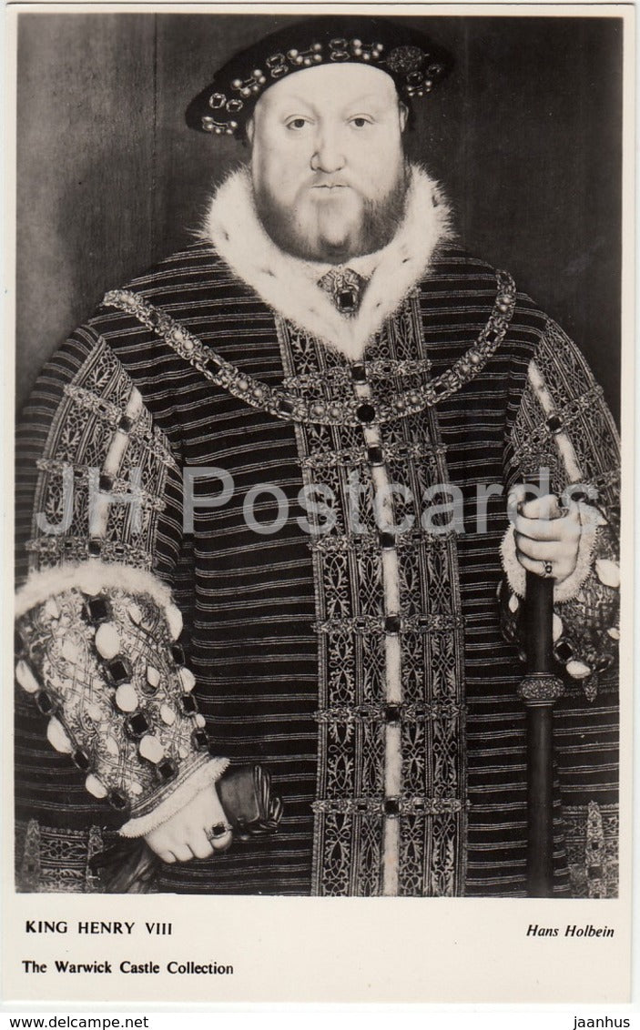 Warwick Castle Collection -Portrait of Henry VIII - United Kingdom - England - used - JH Postcards