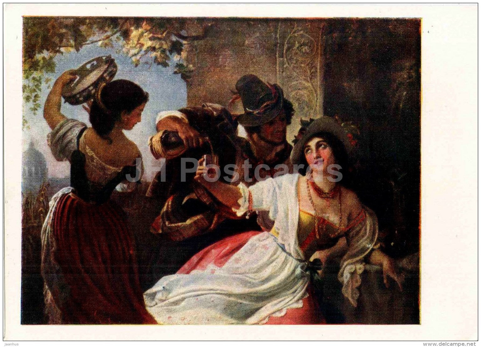 painting by P. Orlov - October Celebration in Rome - Russian art - 1959 - Russia USSR - unused - JH Postcards