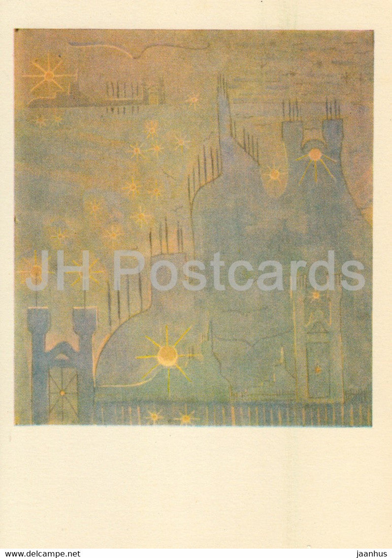 painting by M. Ciurlionis - Sonata of the Sun . Allegro - Lithuanian art - 1978 - Lithuania USSR - unused - JH Postcards