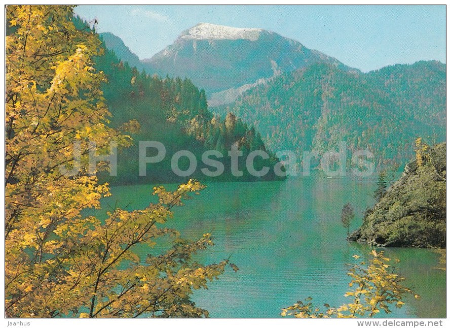 Gudauta - lake Ritsa - Abkhazia - Caucasus - postal stationery - 1982 - Georgia USSR - unused - JH Postcards