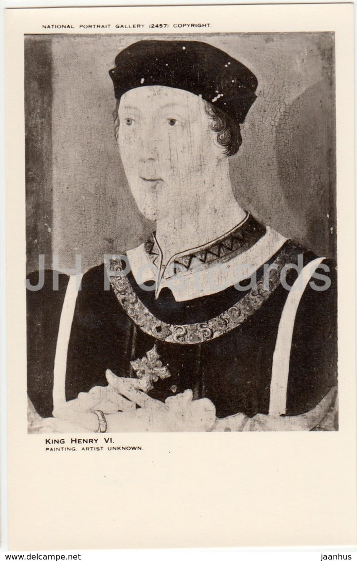 Painting by Unknown Artist - King Henry VI - National Portrait Gallery - english art - United Kingdom - England - used - JH Postcards