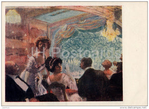 painting by B. Kustodiev - Theatre Box - Russian art - 1960 - Russia USSR - unused - JH Postcards