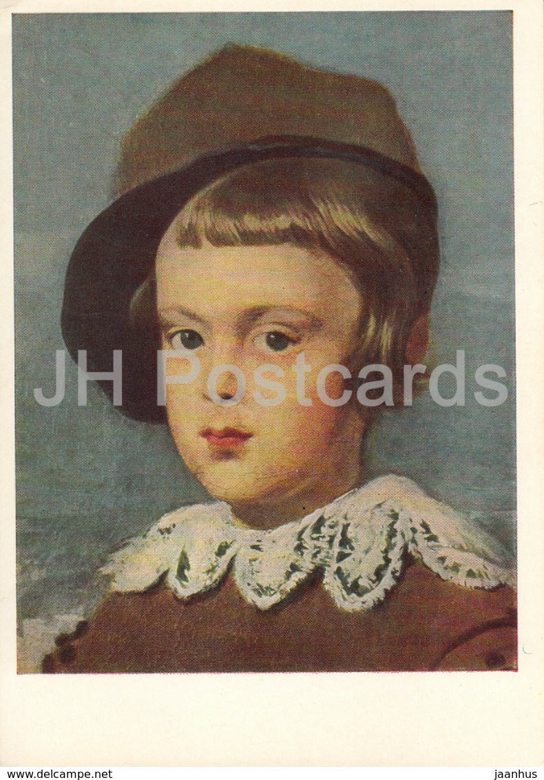 painting by Diego Velazquez - Prince Baltasar Carlos , detail - Spanish art - 1966 - Russia USSR - unused - JH Postcards