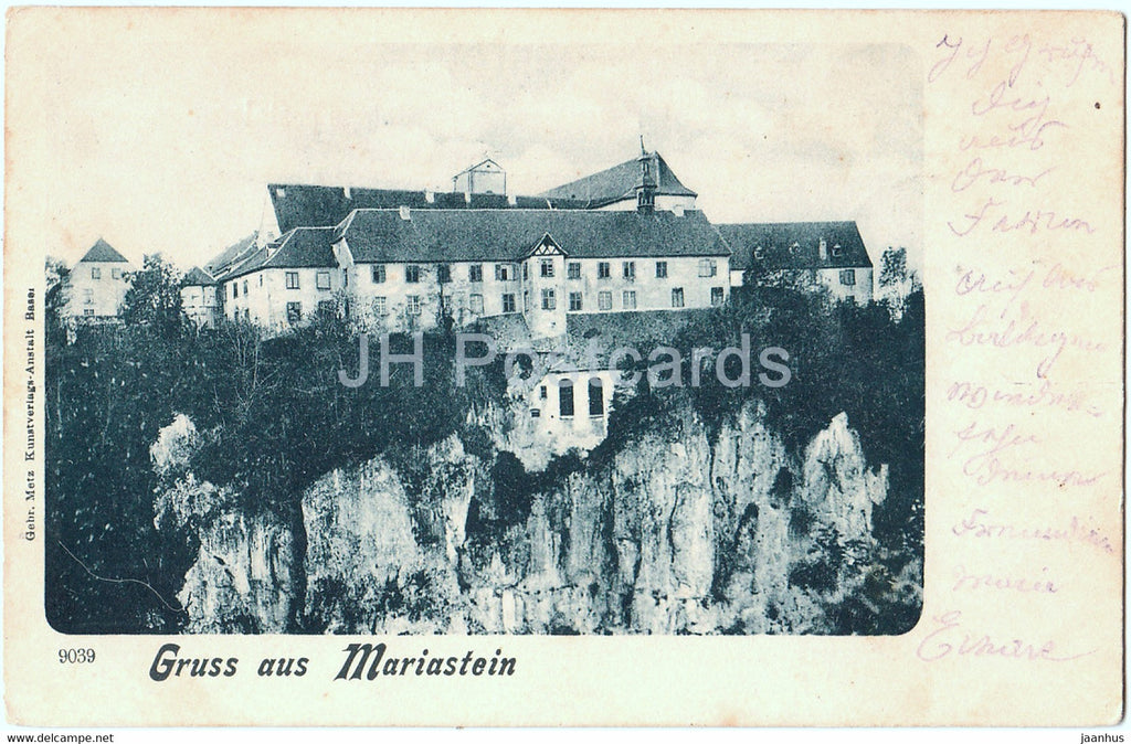 Gruss aus Mariastein - 9039 - old postcard - 1902 - Switzerland - used - JH Postcards