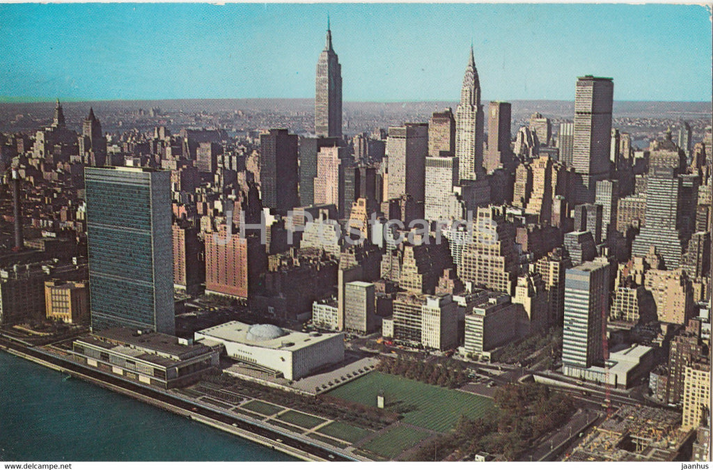 New York City - United Nations from the East River - 1970 - USA - used - JH Postcards