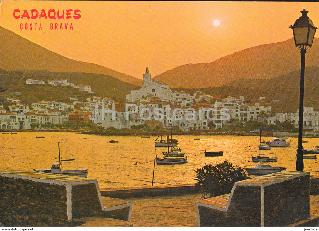 Cadaques - Costa Brava - Bello Atardecer - Beautiful Sunset - 1978 - Spain - used - JH Postcards