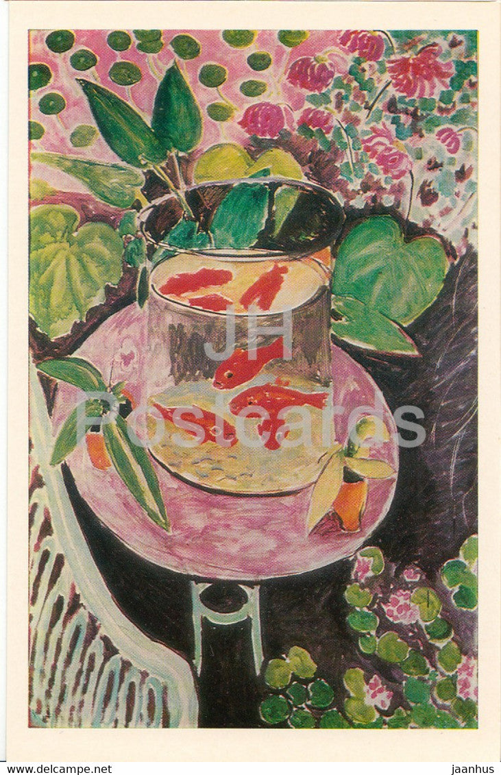 painting by Henri Matisse - Goldfish - French art - 1980 - Russia USSR - unused - JH Postcards