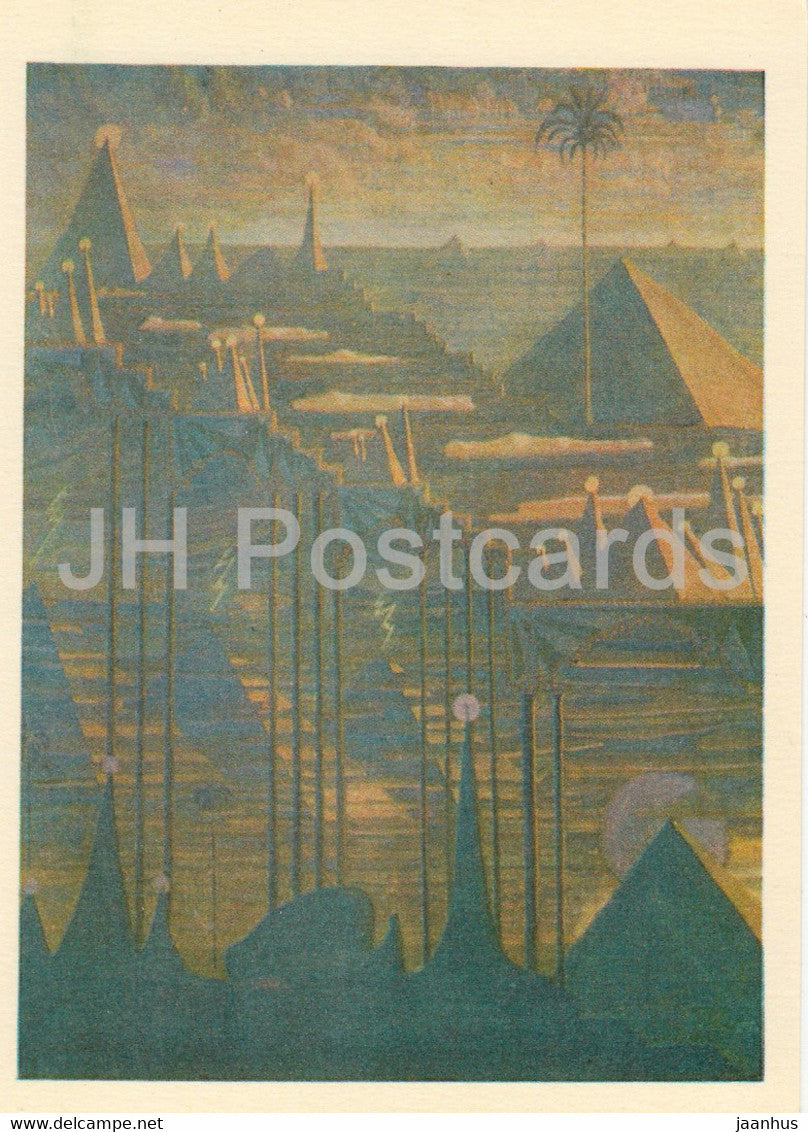 painting by M. Ciurlionis - Sonata of Pyramids . Allegro - Lithuanian art - 1978 - Lithuania USSR - unused - JH Postcards