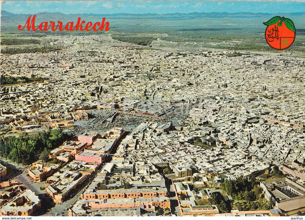 Marrakech - Marrakesh - Aerial View - 210 - 1975 - Morocco - used - JH Postcards