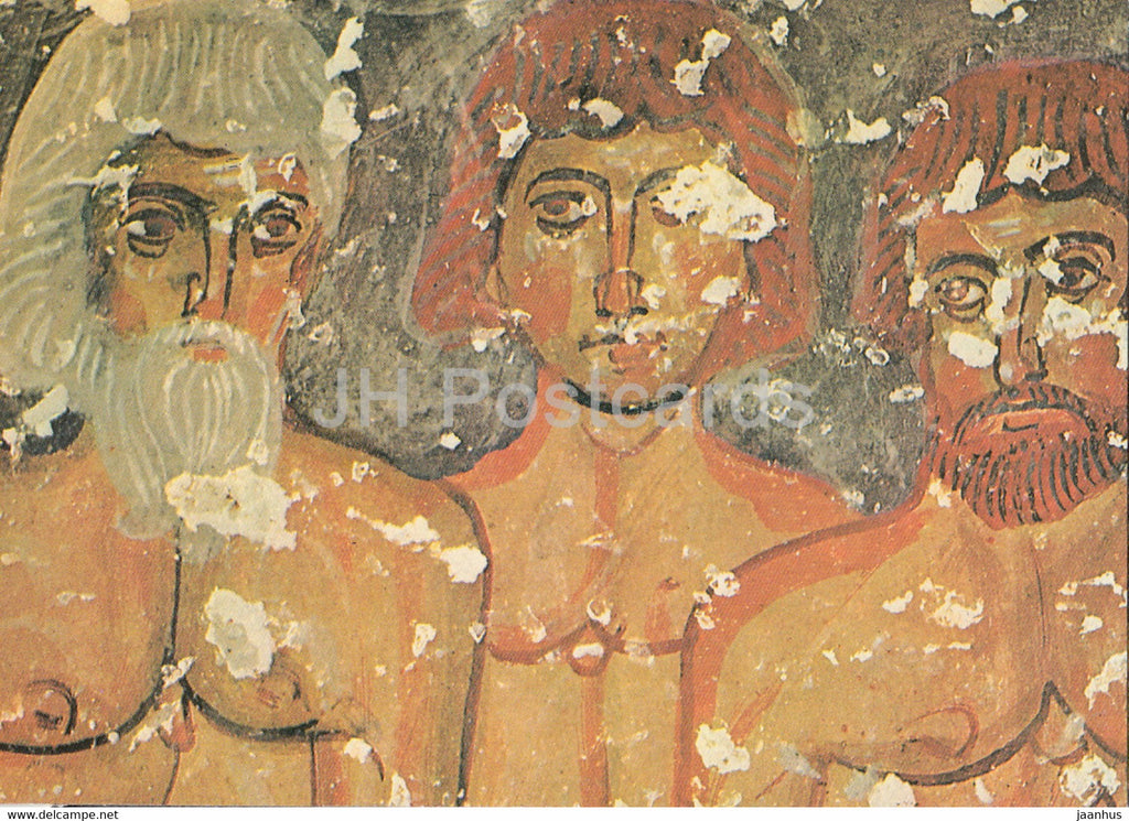 Suves - Cappadocia - Three martyrs standing naked on the ice of Fort Martyrs - ancient art - 1981 - Turkey - used - JH Postcards