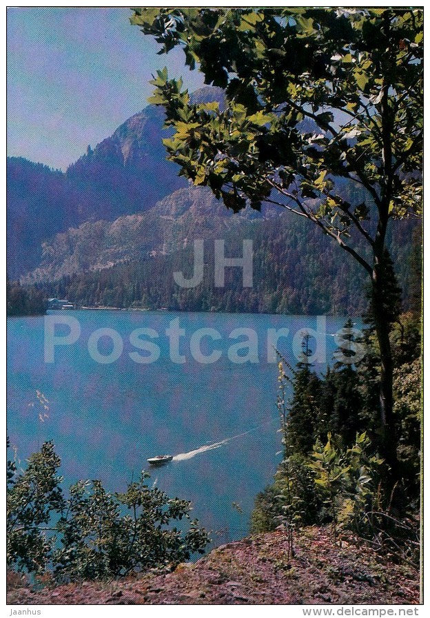 Lake Ritsa - Caucasus - 1980 - Georgia USSR - unused - JH Postcards