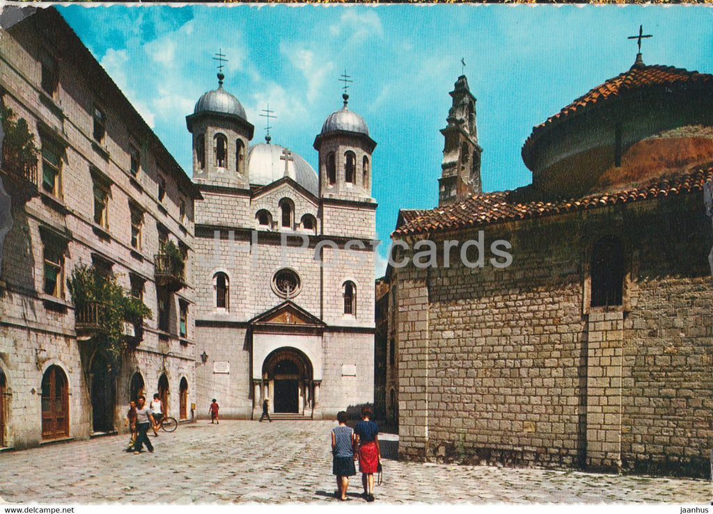 Kotor - Crkve sv Nikole i Luke - Church of St Nicolas and Lucas - 1970 - Yugoslavia - Montenegro - used - JH Postcards