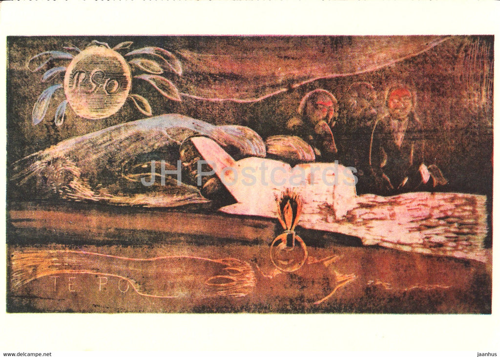 painting by Paul Gauguin - Die Grosse Nacht - French art - 1966 - Germany - unused - JH Postcards