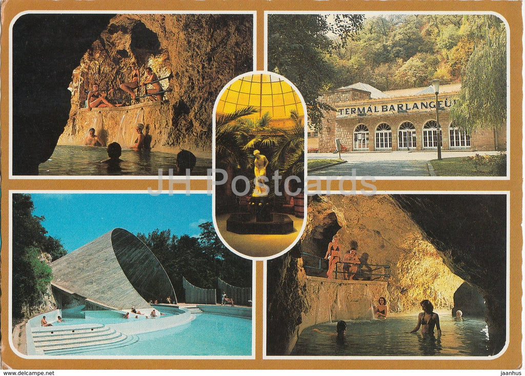 Miskolctapolca - cave pool - multiview - 1988 - Hungary - used - JH Postcards
