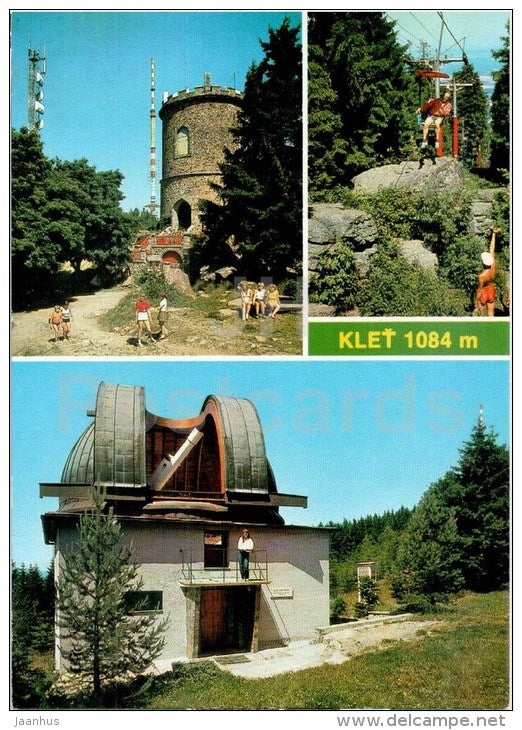 Klet 1084 m - mountain - observatory - telescope - Czech - Czechoslovakia - unused - JH Postcards