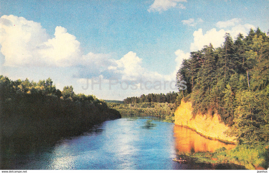 The Gauja National Park - Kazu Rock - 1976 - Latvia USSR - unused - JH Postcards