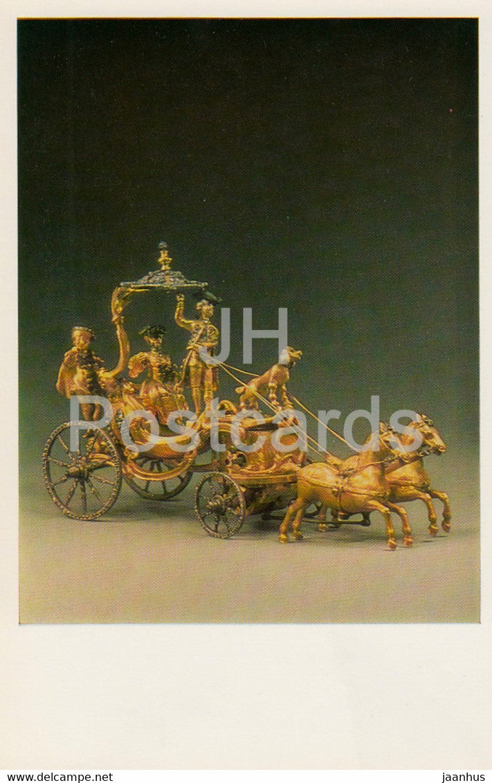 Jewels - Ormolou Clockwork Toy Carriage - France 18th Cent. - The Hermitage - Leningrad - Russia - USSR - 1982 - used - JH Postcards