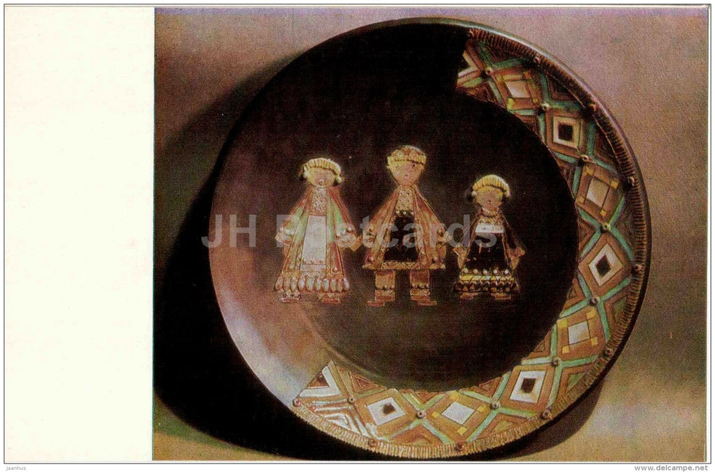The Khevzur Family by Z. Pochkhidze - earthenware - Stamping and Ceramics of Georgia - 1968 - Georgia USSR - unused - JH Postcards