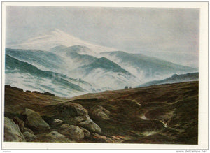 painting by Caspar David Friedrich - Giant´s Mountains , 1835 - German Art - 1970 - Russia USSR - unused - JH Postcards