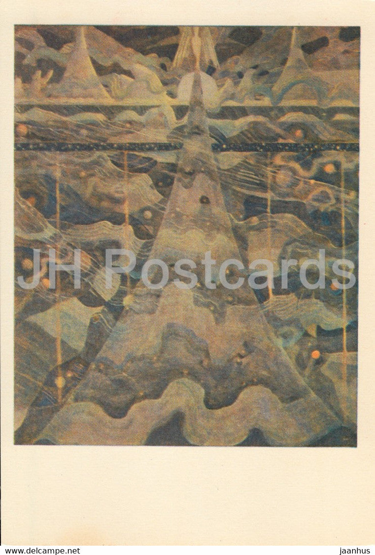 painting by M. Ciurlionis - Sonata of Stars . Allegro - Lithuanian art - 1978 - Lithuania USSR - unused - JH Postcards