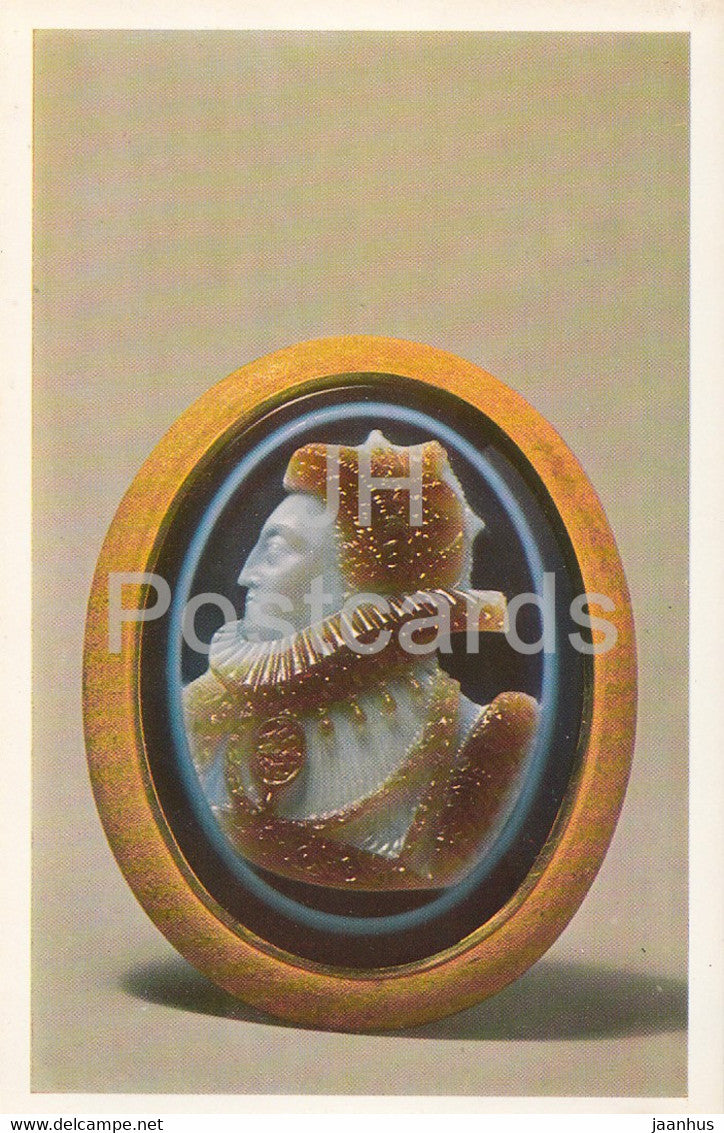 Cameo - Portrait of Elizabeth I - English Applied Art - 1983 - Russia USSR - unused - JH Postcards