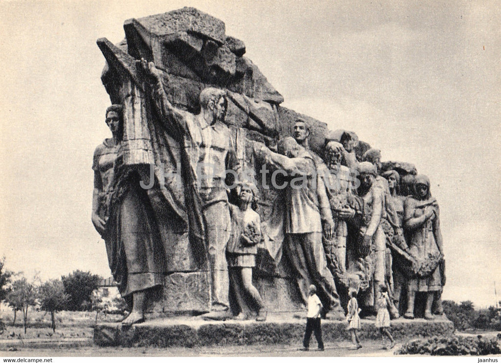 Mamayev Kurgan - Volgograd - sculptural group of the introductory part of the ensemble - 1968 - Russia USSR - unused - JH Postcards