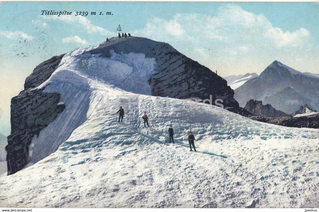 Titlisspitze 3239 m s m - old postcard - 1913 - Switzerland - used - JH Postcards